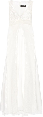 Alexander Wang - Cutout Lace-paneled Silk-satin Gown - Ivory $2,495 thestylecure.com