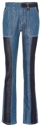 Chloé Patchwork flared jeans