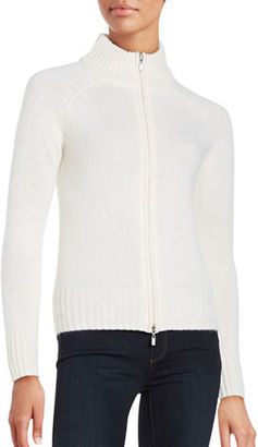 Lord & Taylor Cashmere Zip-Front Cardigan $268 thestylecure.com