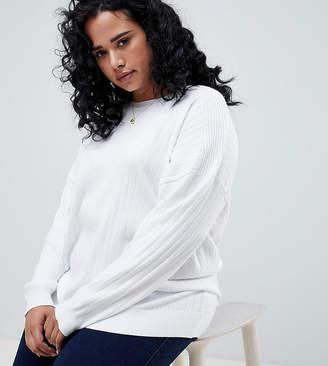 Asos DESIGN Curve oversize sweater in fine knit