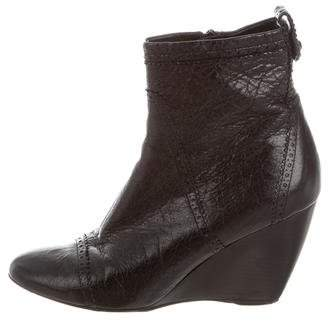 Balenciaga Brogue Wedge Ankle Boots