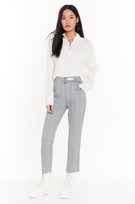 Nasty Gal In Check Tapered Pants