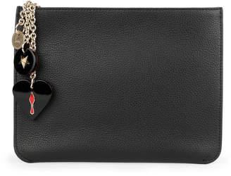 Christian Louboutin Loubicute black leather pouch