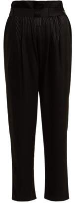 Masscob Ford Striped Jacquard Trousers - Womens - Black