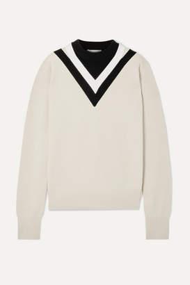 Helmut Lang Color-block Wool-blend Sweater