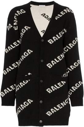 Balenciaga Logo Cardigan