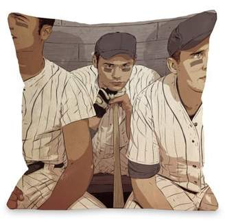 Unbranded Baseball Players - Multi 18x18 Pillow by Matthew Woodson