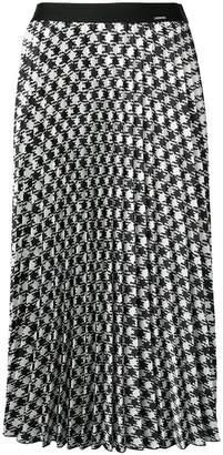 Liu Jo houndstooth pleated midi skirt