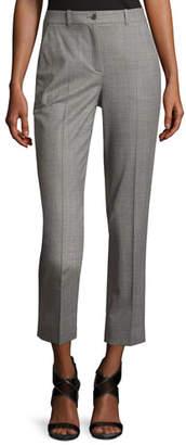 Michael Kors Sam Cropped Stretch-Wool Pants, Gray