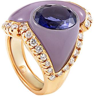 Heritage Oro Trend 18K Rose Gold 5.68 Ct. Tw. Diamond & Gemstone Ring
