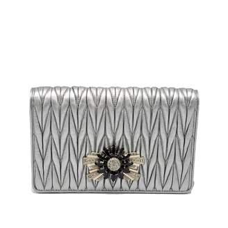 523d3041b3f Miu Miu Matelasse Leather Clutch Bag - ShopStyle UK