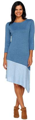 Halston H By H by Color-Block Asymmetrical Hem Sweater Dress