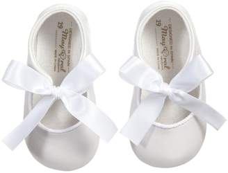 Mayoral White Ribbon Pre-Walker-Shoes