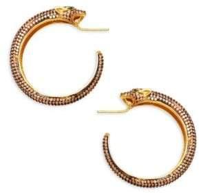 Azaara 22K Yellow Gold Leopard Earrings