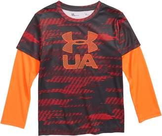 Under Armour Travel Big Logo Slider Layered T-Shirt