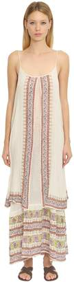 Mes Demoiselles Layered Printed Cotton Gauze Dress