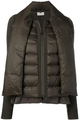 Moncler scarf tie padded jacket
