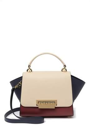 Zac Posen Eartha Top Handle Colorblock Leather Crossbody Bag