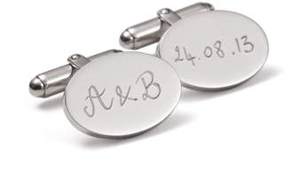 Merci Maman Personalized Oval Cufflinks