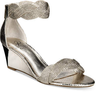 Adrianna Papell Adelaide Ankle Strap Wedge Evening Sandals Women's Shoes $119 thestylecure.com