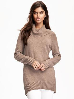 Hi-Lo Turtleneck Tunic Pullover for Women $42.94 thestylecure.com