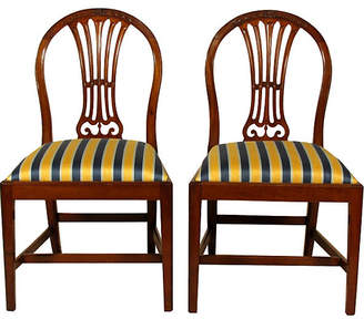 One Kings Lane Vintage 19th-C. English Side Chairs - Set of 2 - The Barn at 17 Antiques