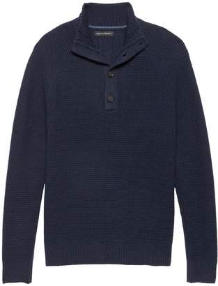 Banana Republic Italian Merino Blend Mock-Neck Sweater
