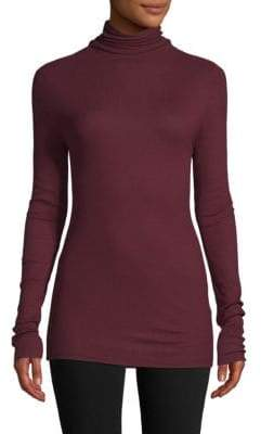 Saks Fifth Avenue Micro Rib Turtleneck Sweater