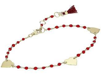 Shashi Heart Multi Cord Bracelet