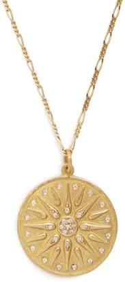 ORIT ELHANATI The Letter M diamond & yellow-gold necklace