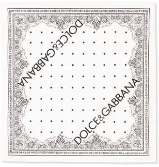 Dolce & Gabbana Printed Cotton-voile Scarf