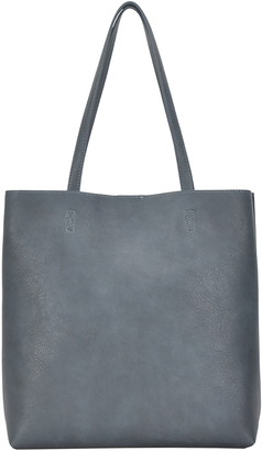Antik Kraft Faux Leather North/South Tote with Removable Pouch
