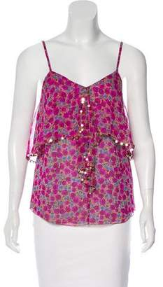 Rebecca Taylor Sleeveless Floral Top