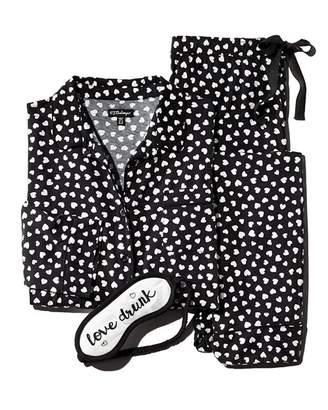 PJ Salvage Heart Pajama & Mask Set