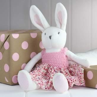Nest White Rabbit Soft Toy With Crochet Dress
