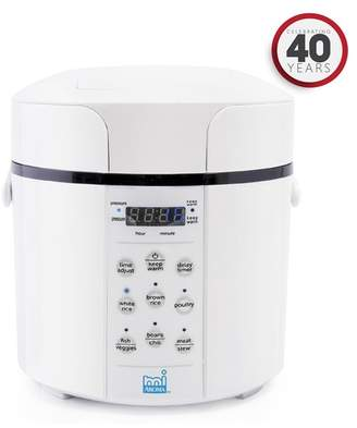 White Stainless Steel miAroma 2 Quart Pressure Cooker & Multicooker