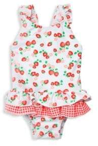298470d1dd40f Baby Girl's One-Piece Strawberry Frill Swimsuit