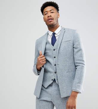 Noak TALL Skinny Suit Jacket In Harris Tweed