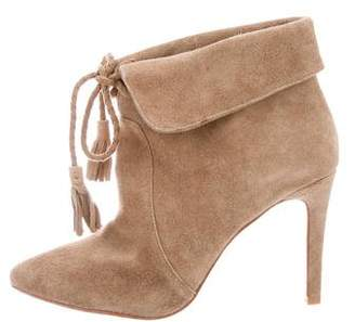 Joie Suede Pointed-Toe Booties