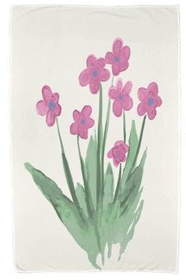 Simply Daisy, 30 x 60 inch, Pretty Little Flower Beach Towel, Pink