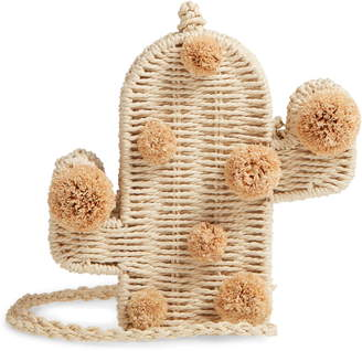 Knotty Cactus Straw Crossbody Bag