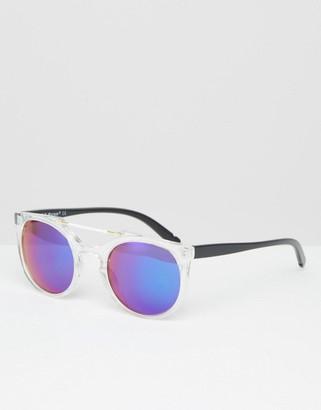 AJ Morgan Wired Brow Bar Round Mirror Sunglasses $18.50 thestylecure.com