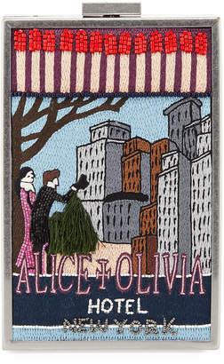 Alice + Olivia Sophia Beaded Hotel Graphic Matchbox Clutch Bag