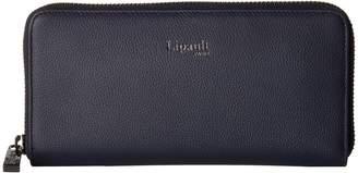 Lipault Paris Plume Elegance Leather Zip Around Wallet Wallet Handbags