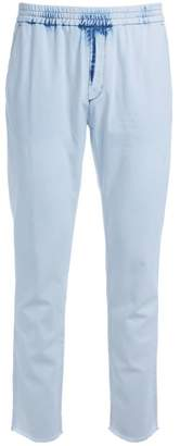 MSGM White Chambray Trousers