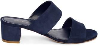 Mansur Gavriel Suede 40mm Double Strap Sandal - Blu