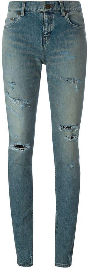 Saint LaurentSaint Laurent washed skinny jeans