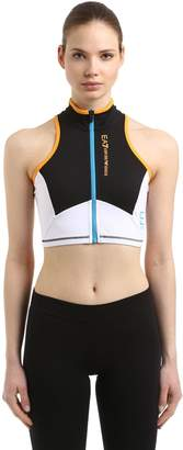 Vigor7 Logo Print Zip-Up Sports Bra