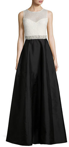 Adrianna Papell Adrianna Papell Beaded Taffeta Gown