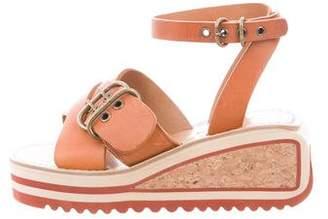 Etoile Isabel Marant Leather Wedge Sandals